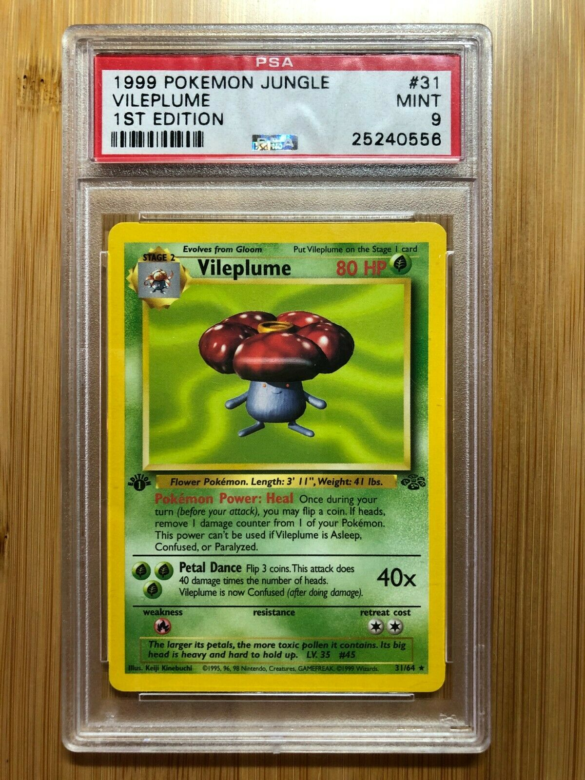 Rare Jungle 31//64 Unlimited Edition NM-Mint Pokemon G1 1x Vileplume