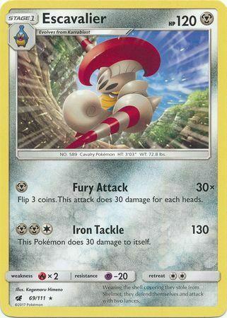 Escavalier 69/111 - Rare Pokemon Card - Crimson Invasion (2017) - NM - Image 3