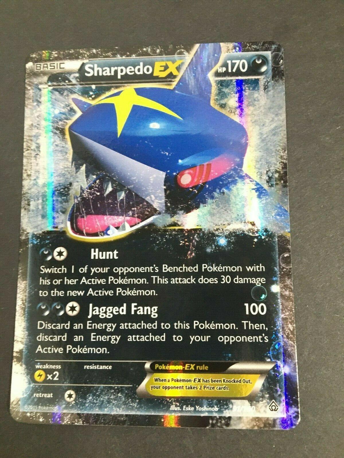 Pokemon - Sharpedo-EX - 91/160 - Ultra Rare XY Primal Clash NM