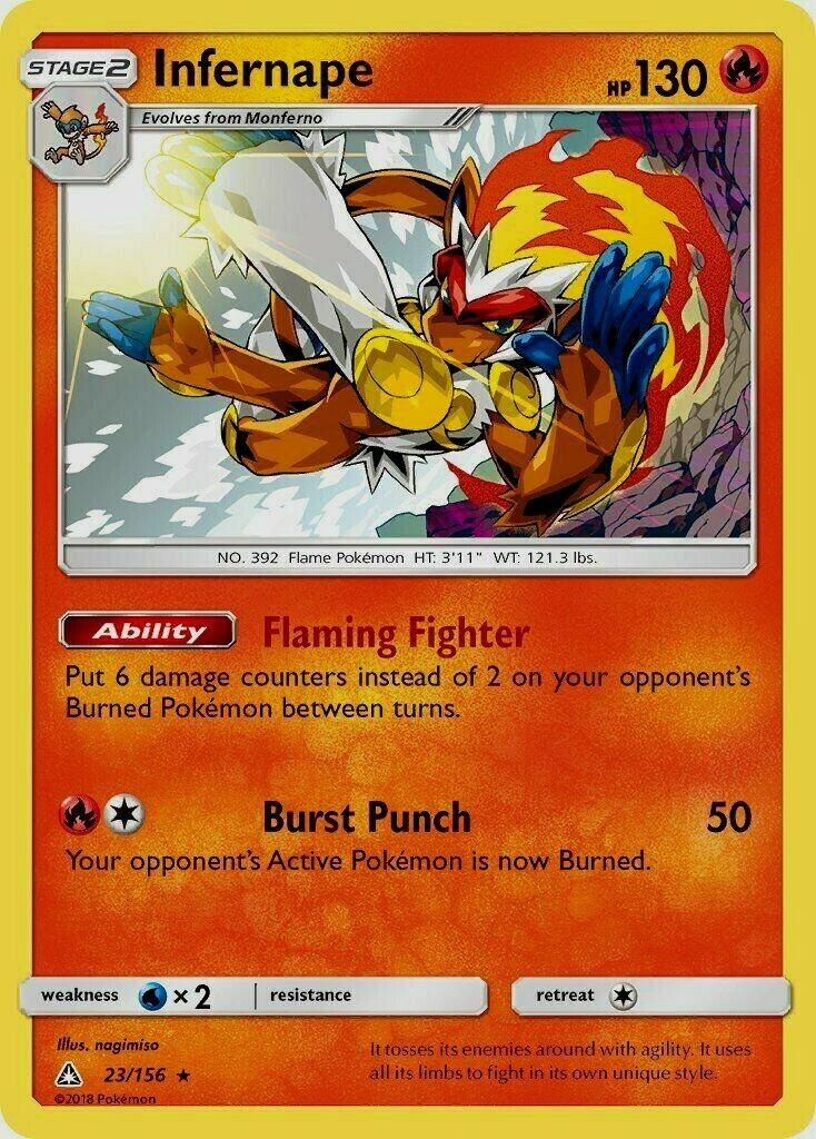 Pokemon TCG Card - Infernape 23/156 - Rare Holo - NM - Image 1