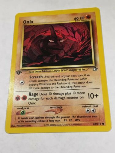 Neo Genesis 69//111 Near Mint Onix First Edition Pokemon Card