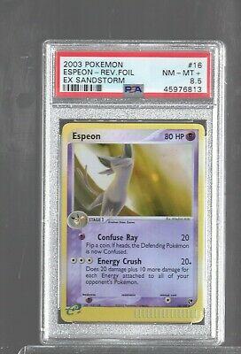 No e-Reader Strip Rare Pokemon HP Espeon 16//100 EX Sandstorm EX Battle Stadium
