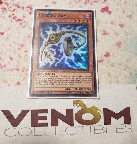Super Rare 3 Available Yugioh Holding Legs 1st Edition MIL1-EN004