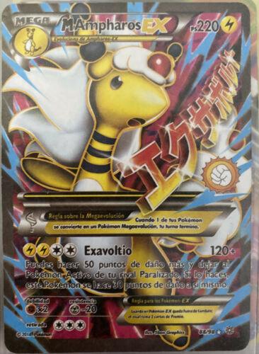 Ampharos Pokemon Ampharos MEGA EX Holo 28//98 Proxy Karte