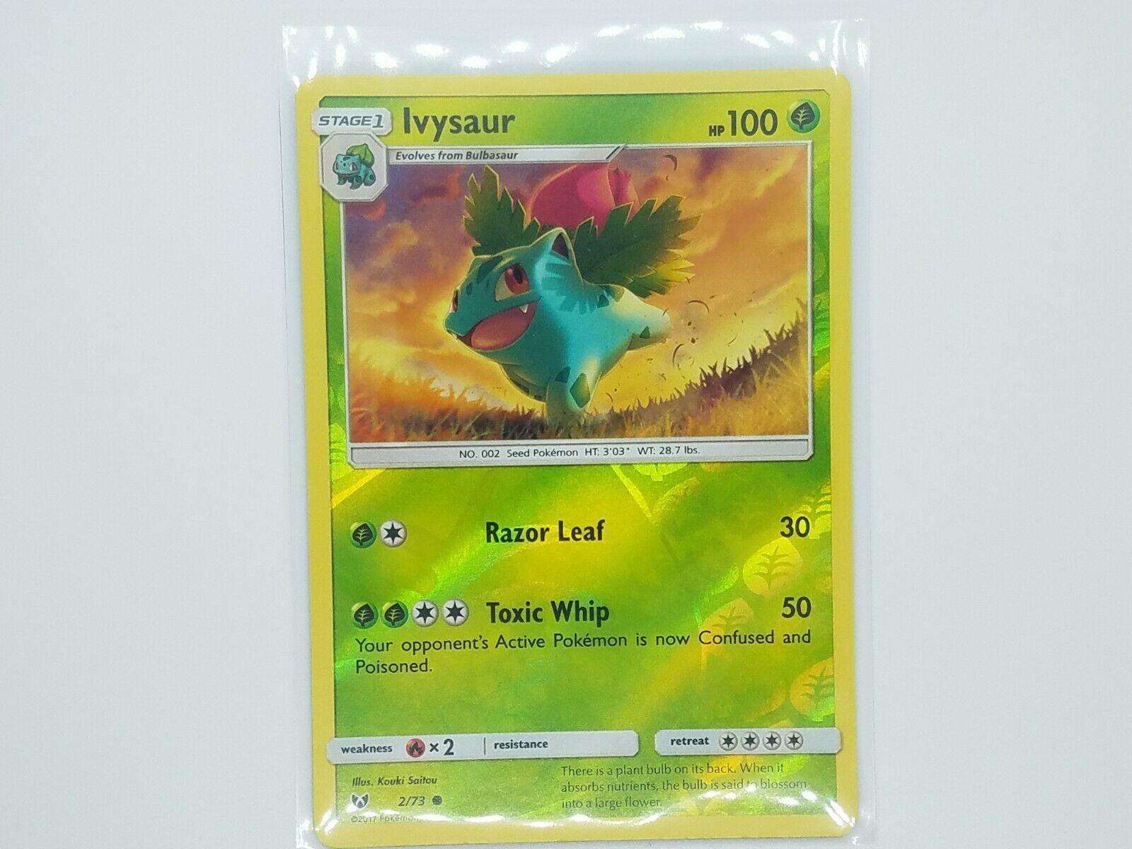 Ivysaur 2//73 NM//M MINT Shining Legends Reverse Holofoil Holo Pokemon Card
