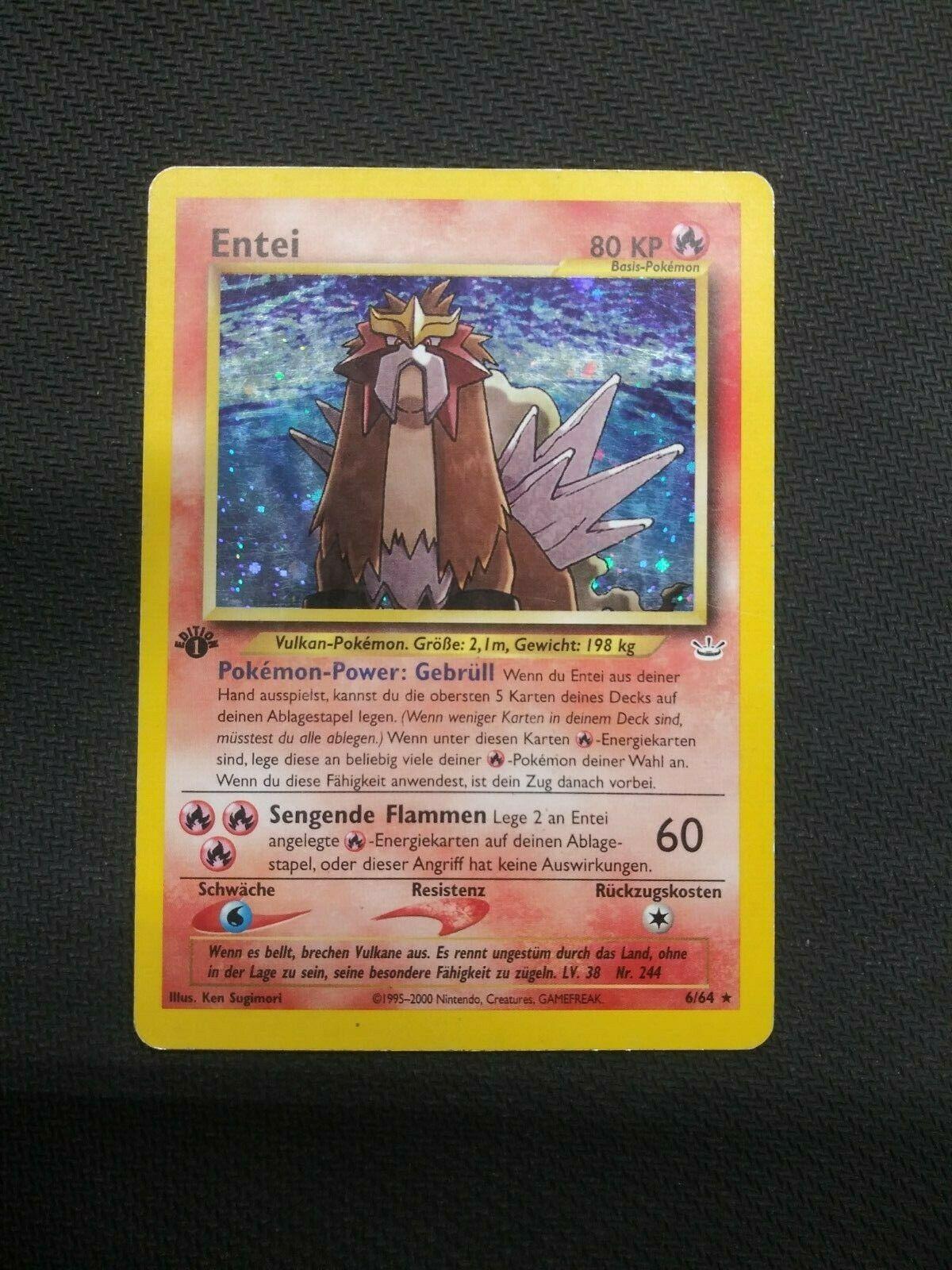244 Holo Foil Rare Neo Revelations NM Pokemon Card Japanese Entei No