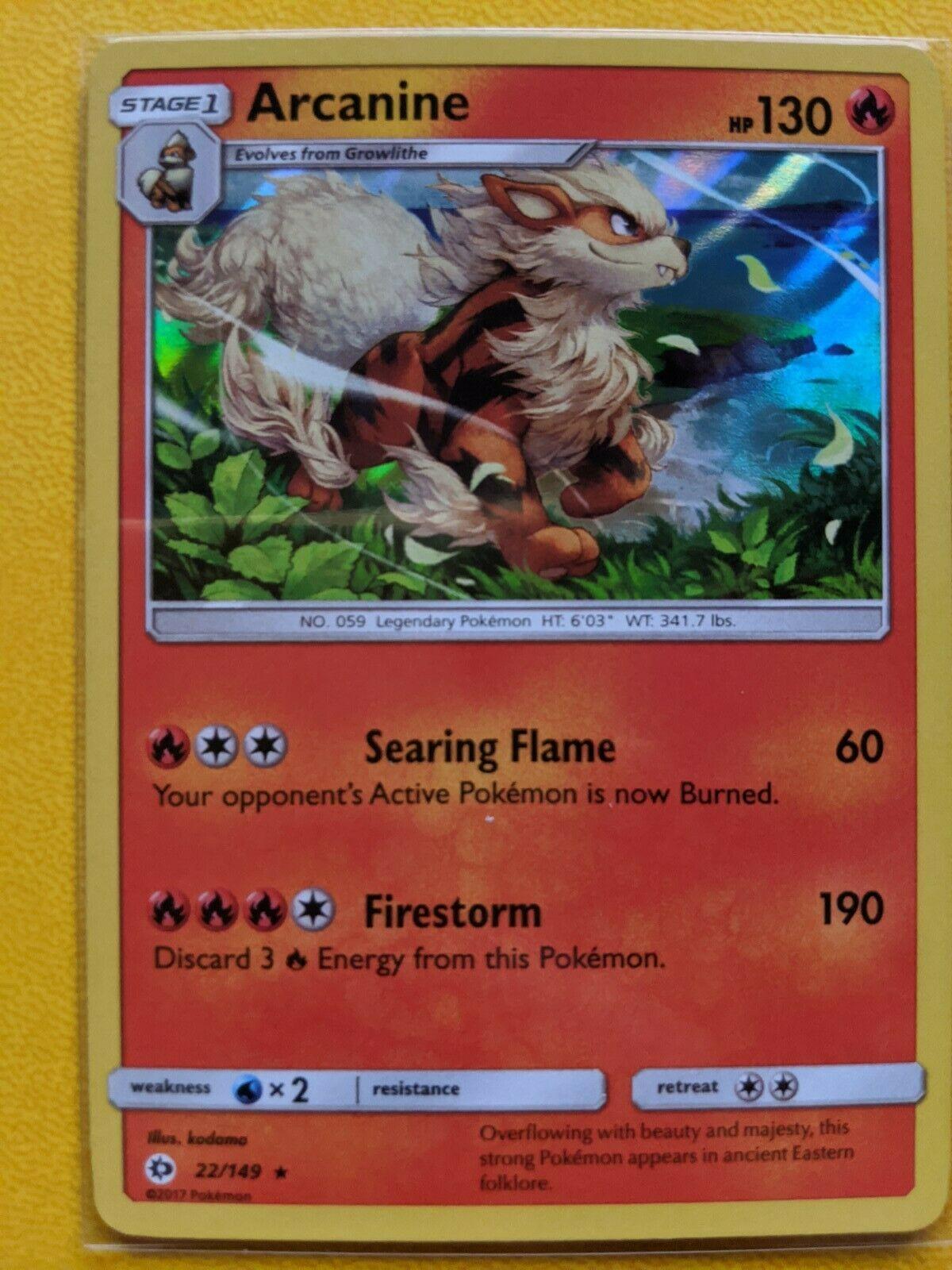Pokemon Unbroken Bonds Arcanine #22 Holo Rare NM