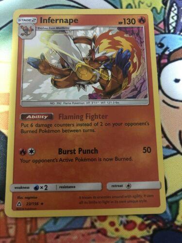 Infernape 23/156 SM Ultra Prism Set HOLO Pokemon Card NEAR MINT