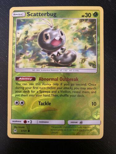 Scatterbug 5/131 - Common Reverse Holo Pokemon Card - Forbidden Light Set - NM - Image 1
