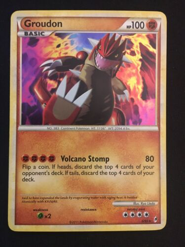 Pokemon Card Groudon Call of Legends 6//95 EXCELLENT//NEAR MINT Holo Rare TCG!!!!!