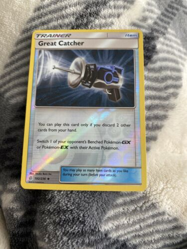 192//236 Uncommon x1 Great Catcher Reverse Holo Pokemon SM12 Cosmic Eclipse