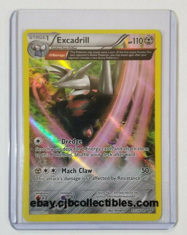 Pokemon EXCADRILL 97/160 Holo Rare XY Primal Clash  - Excellent Condition