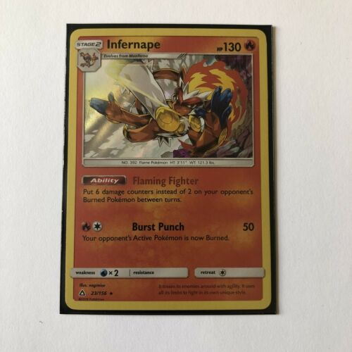 Pokemon TCG Infernape 23/156 Holo Rare SM Ultra Prism