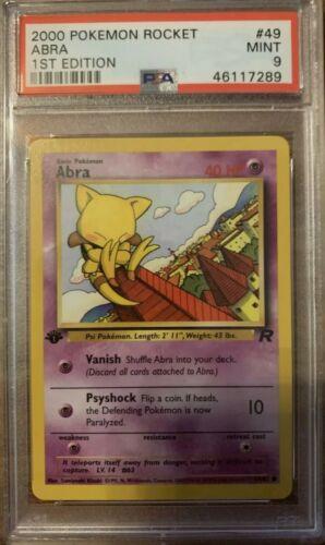 Pokemon Card Abra 49//82 Excellent Condition Team Rocket 1st Edition