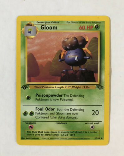 Edition-Pokemon-Uncommon-germano Comme neuf Jungle 2000-1 Duflor 37//64
