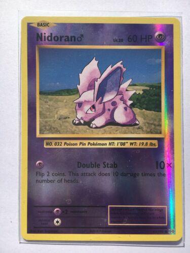 carte Pok/émon 43//108 Nidoran M Niv.20 60 PV REVERSE