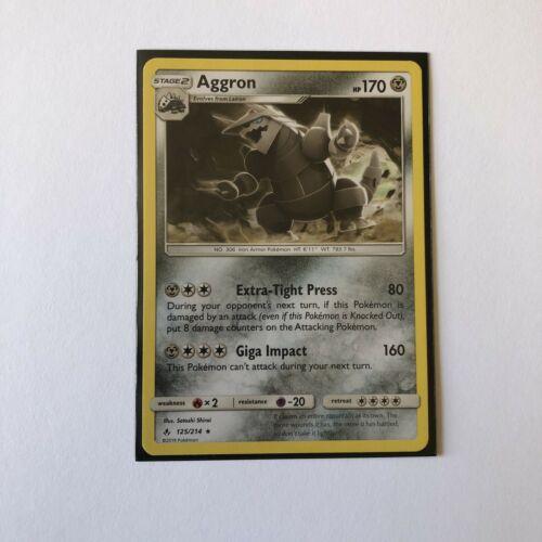 Pokemon TCG Aggron 125/214 Non Holo Rare SM Unbroken Bonds
