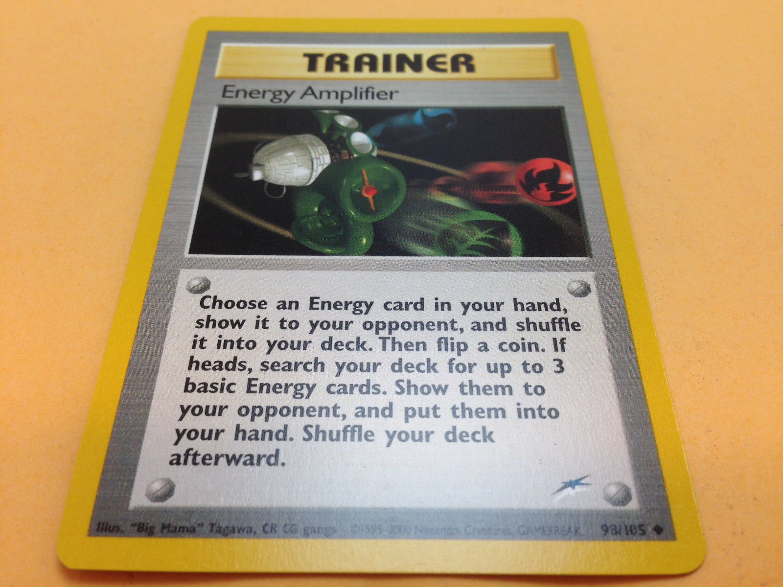 Energy Amplifier 98//105 Neo Destiny Set TRAINER Pokemon Card NEAR MINT