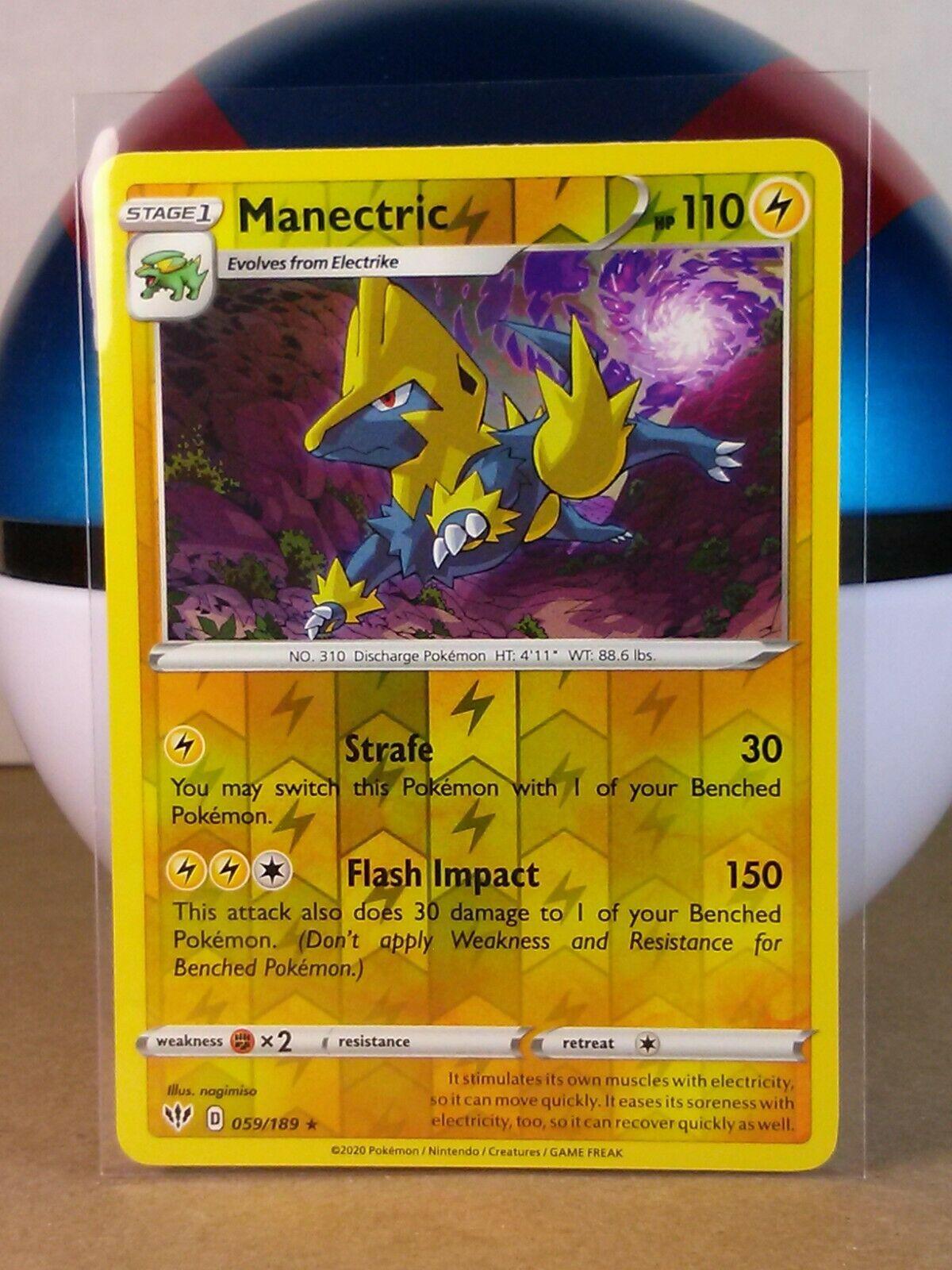 Darkness Ablaze  Rare  Mint//NM Pokemon Manectric  59//189 S/&S