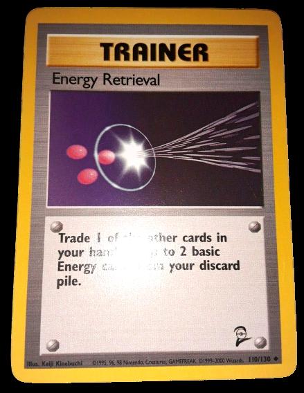Energy Retrieval 110//130 Trainer UncommonBase Set 2Pokemon Card