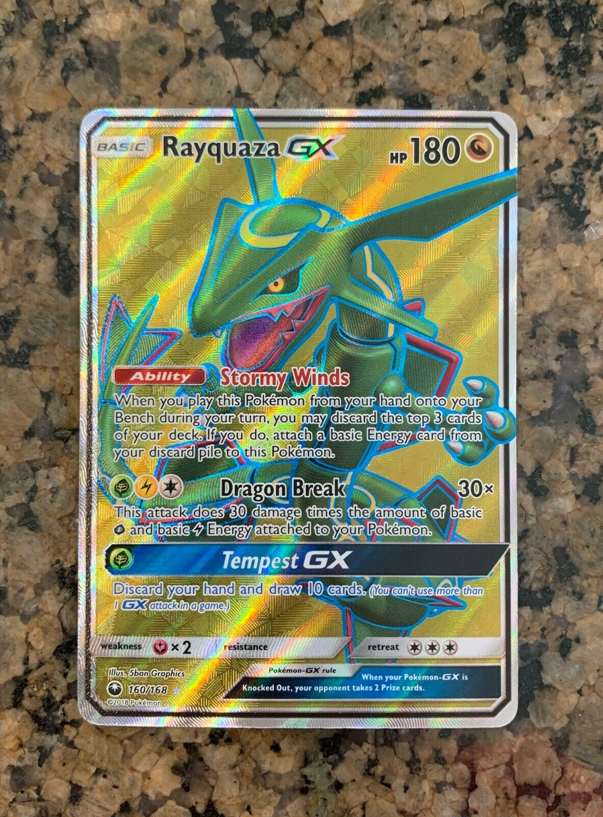 POKEMON CELESTIAL STORM RAYQUAZA 160//168 ULTRA RARE NEW NEVER PLAYED