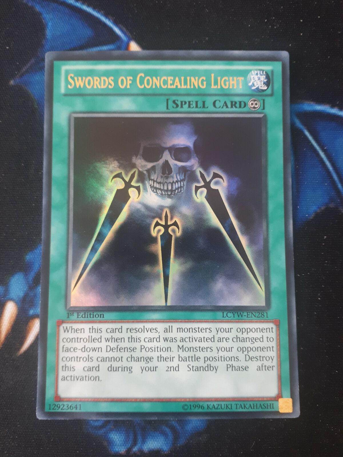 3x Swords of Concealing Light YuGiOh SDSA-EN032 Common 1st Edition NM//Mint x3