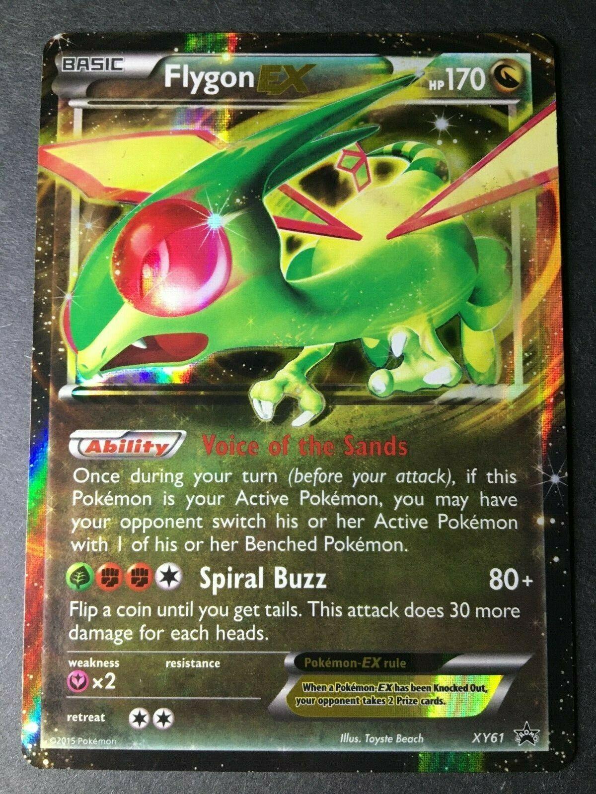 Pokemon X /& Y Ultra Rare Holo Flygon EX XY61 Black Star Promo LP