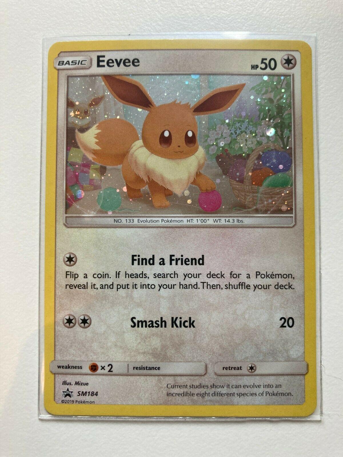 Sun /& Moon Unbroken Bonds Eevee SM184 Rare Holo Pokemon Promo Card