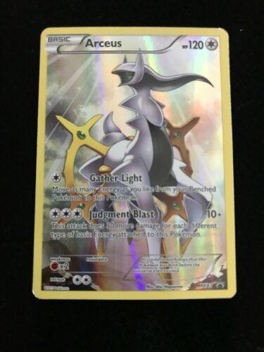 Arceus XY83 Full art 2015 pokemon card HOLOGRAPHIC