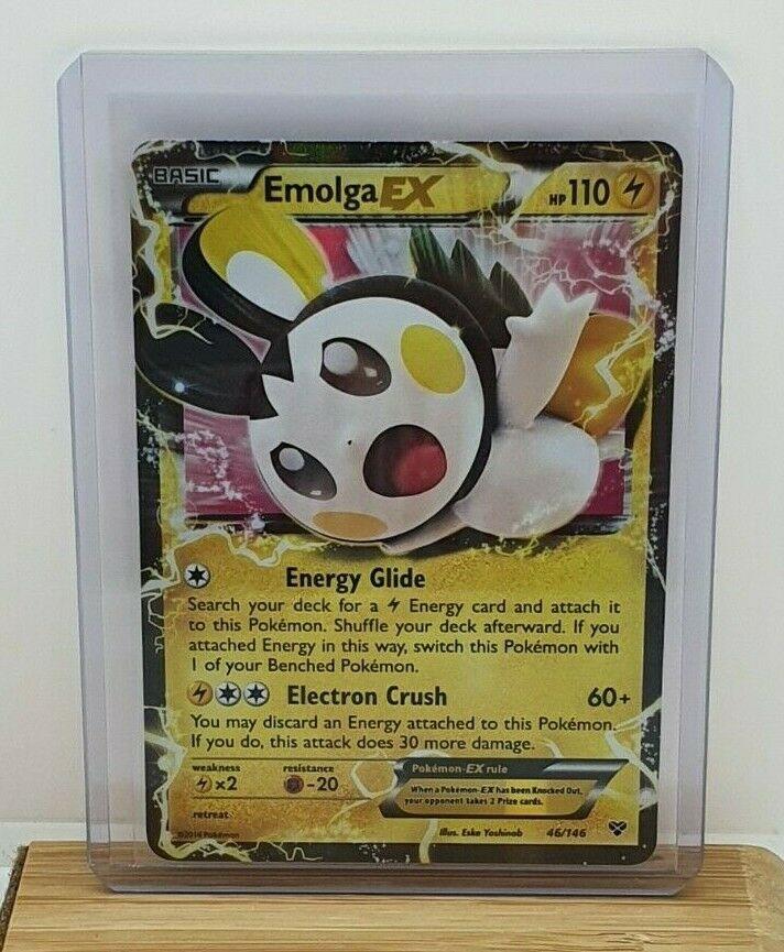 Pokemon Emolga Ex XY 46//146 Half Art Holo Nr Mint