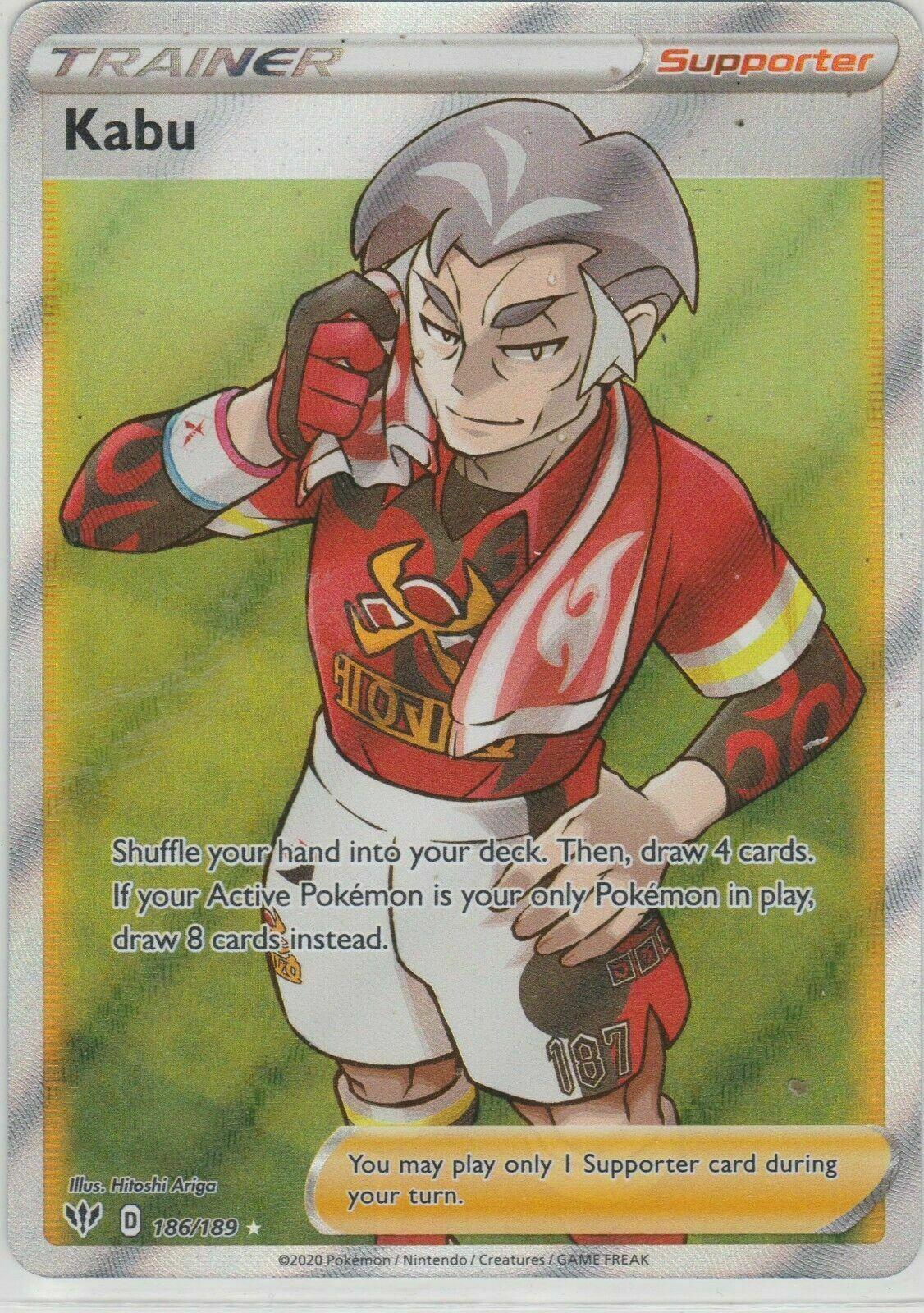 NM//M 186//189 Darkness Ablaze Pokemon Full Art Kabu