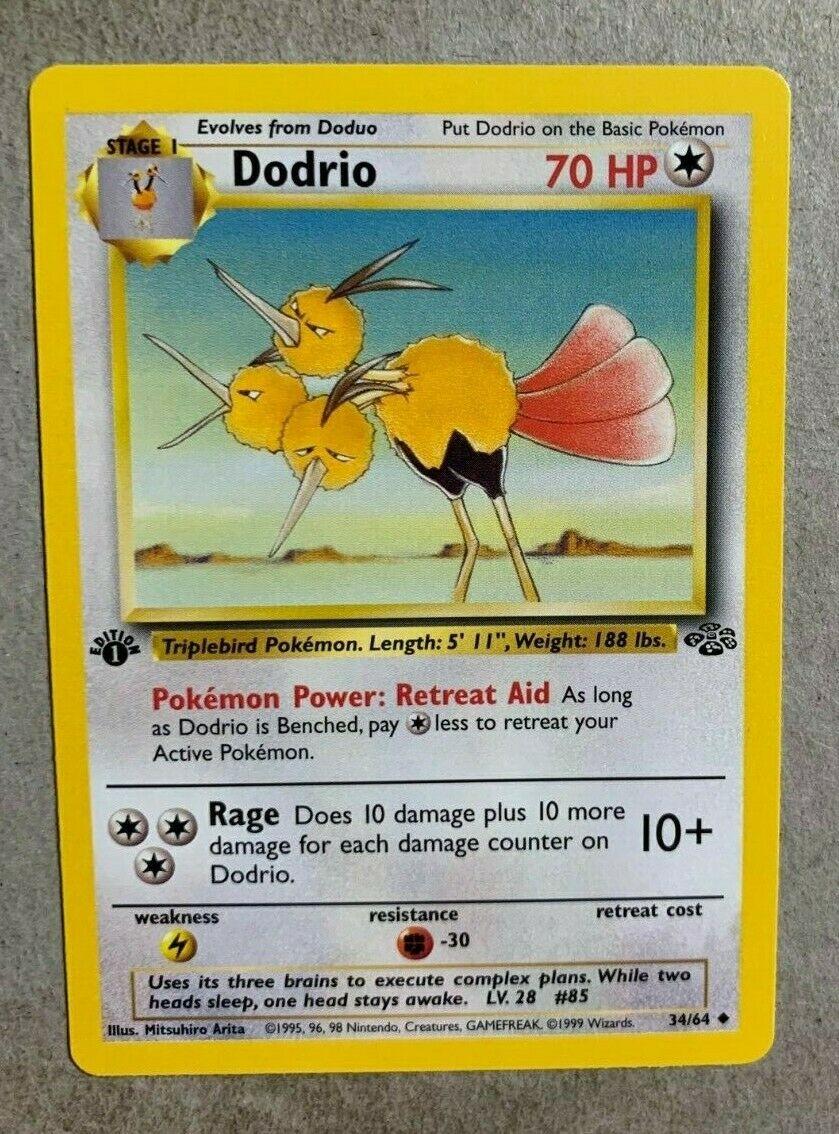 Deutsch Uncommon Dodri 34//64 Mint Pokemon Dschungel 2000-1.Edition