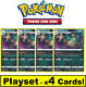 Playset (x4 Cards) - 118/192 Garbodor Rebel Clash Pokemon TCG Cards NM