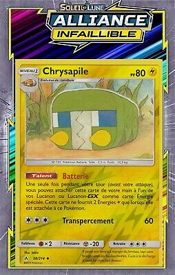 Carte Pokemon CHRYSAPILE 58//214 REVERSE Soleil et Lune 10 SL10 FR NEUF