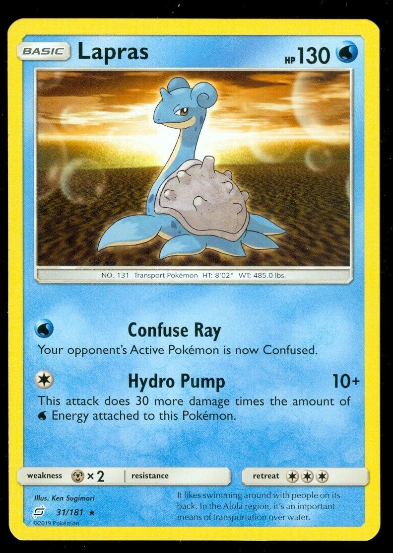 Pokemon LAPRAS 31/181 - Team Up - RARE - MINT
