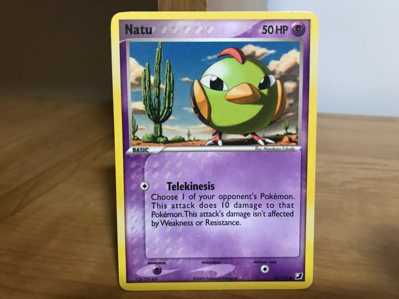 Pokemon Card Natu 63/115 EX Unseen Forces in Good Condition! - Image 1