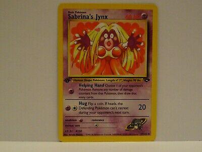 Carte Pokemon SABRINA/'S JYNX 57//132 Gym Challenge Wizard EDITION 1 Near Mint