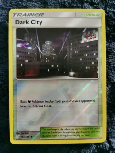 1x Dark City 193//236 Unified Reverse Holo NM-Mint Pokemon SM11 Uncommon
