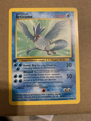Pokemon CCG Articuno Fossil Rare 17//62 English Moderately Played MP