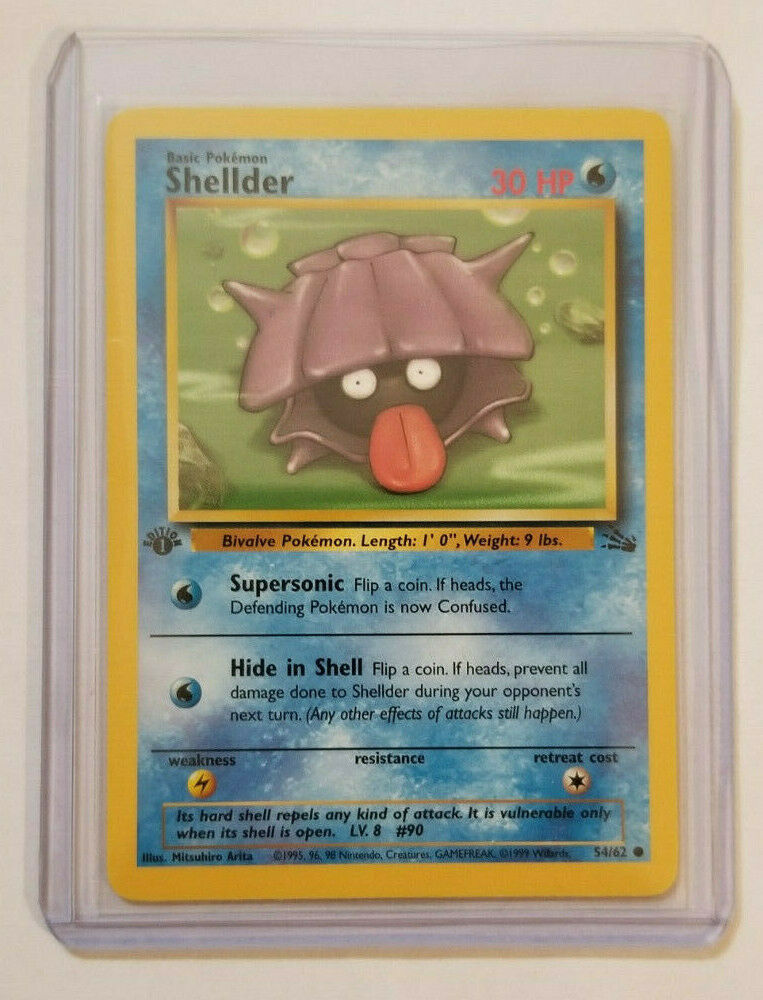 Shellder Common Unlimited Fossil Set MINT PACK FRESH! 54//62