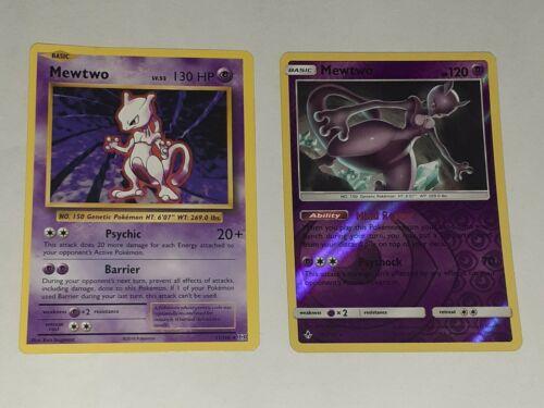 Mewtwo - 51/108 - Rare Non Holo Pokemon XY  & mewtwo-75/214 reverse holo⚡🔥