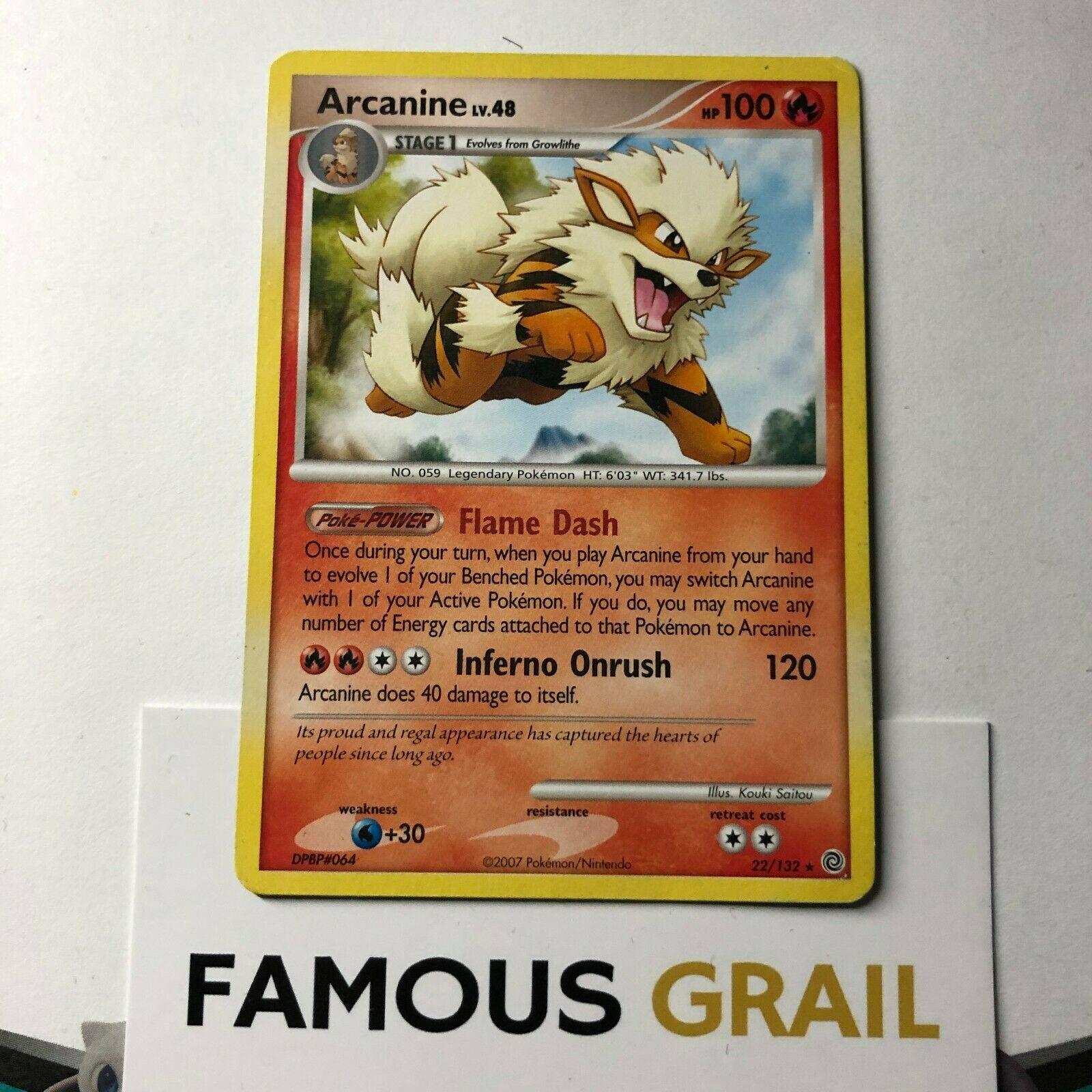 Pokemon Sun /& Moon Base Set Card # 22 Arcanine SM01-022 2x Rare Holo