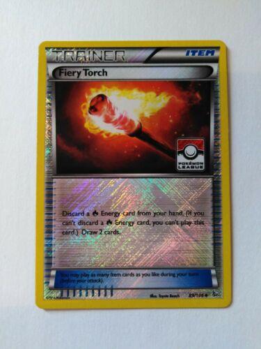 League Promo Pokemon Card Fiery Torch Reverse Foil Near Mint