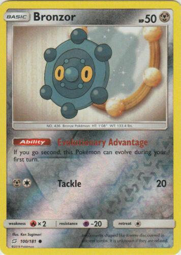 4x Bronzong 101//181 Reverse Holo NM-Mint Pokemon SM11 Team Up Rare