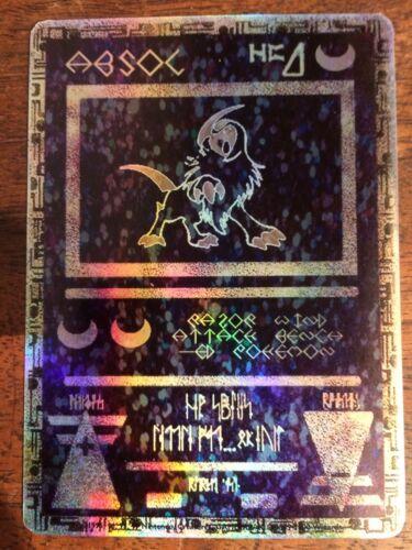 MewTwo GX Pokemon Ancient Mew Black Gold Metal Custom Card