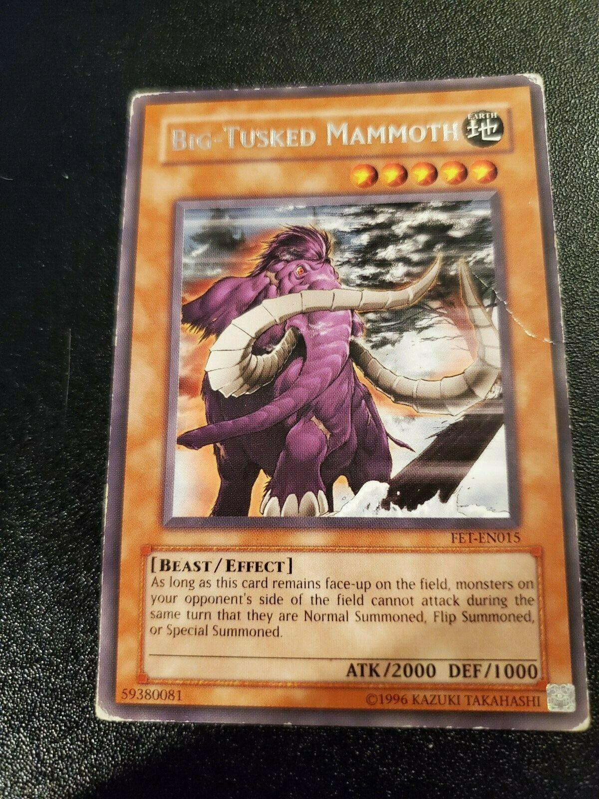 Rare Unlimited New Flaming Eternity 4x 1Big-Tusked Mammoth FET-EN015