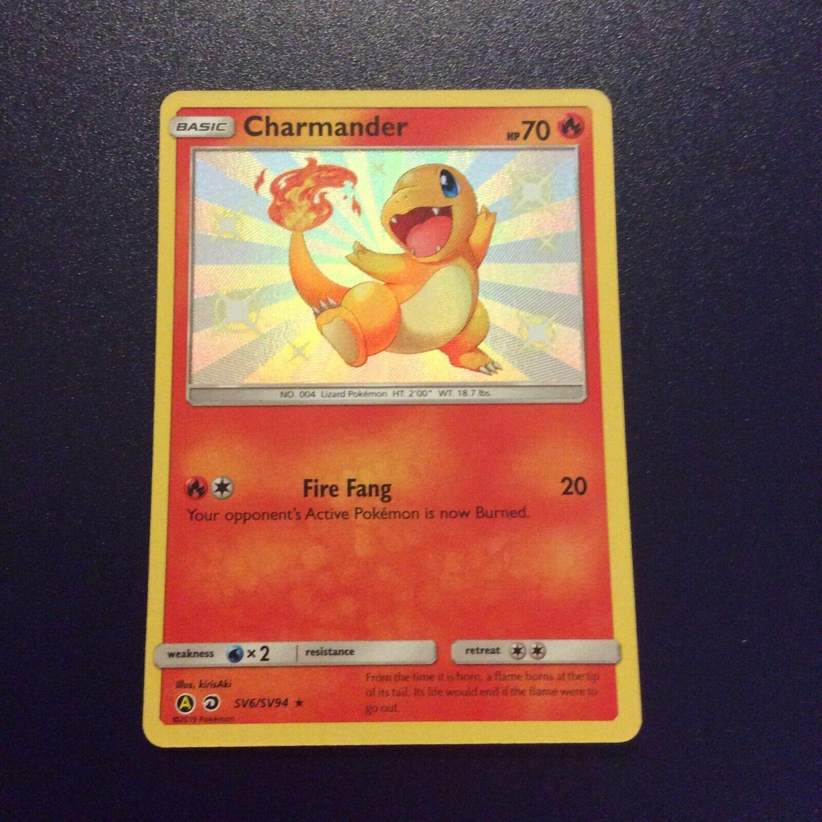Charmander SV6//SV94 Shiny Rare M//NM Pokemon Hidden Fates