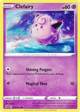 Rebel Clash x4 Card Playset Pokemon 75//192 Holo Rare Clefable