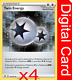4x Twin Energy 174/192 Rebel Clash Pokemon TCG Online Digital Card + GIFT