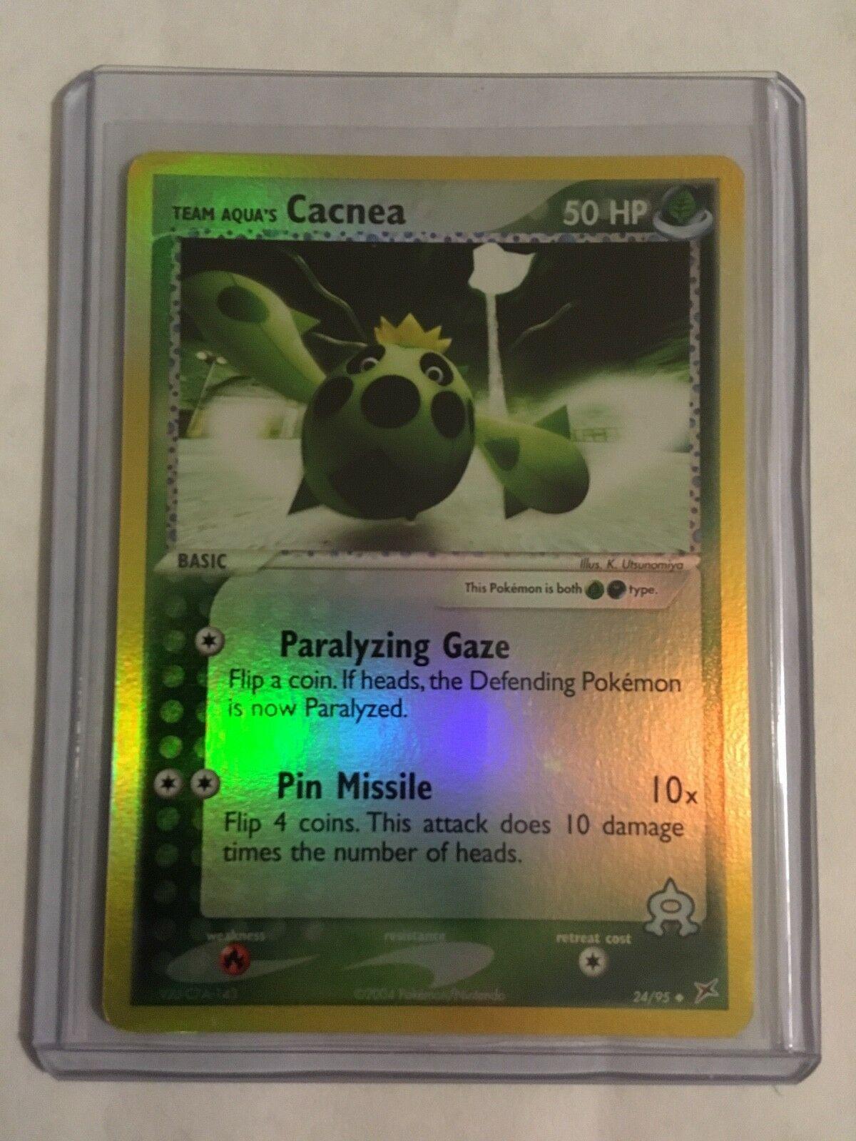 Cacnea Prerelease Pokemon Card Stamped Promo 24//95